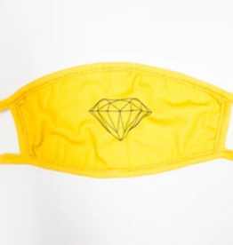 DIAMOND DIAMOND BRILLIANT FACE MASK YELLOW