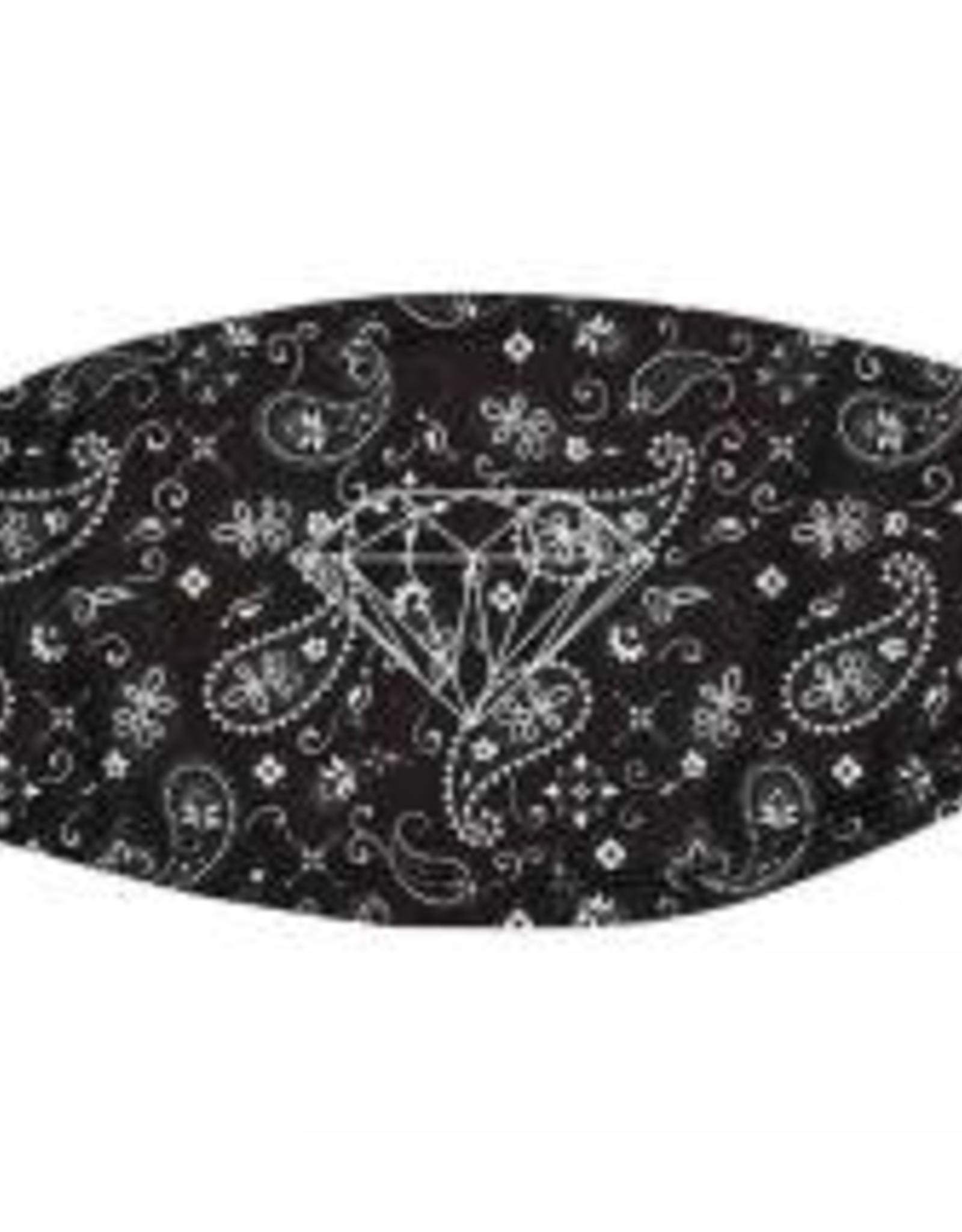 DIAMOND DIAMOND BANDANA FACE MASK BLACK