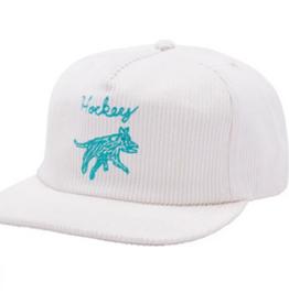 HOCKEY HOCKEY DOG HAT CORDUROY WHITE