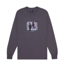 HOCKEY HOCKEY RICKS L/S TEE CHARCOAL