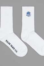 POLAR POLAR 93 SOCKS WHITE OSFA
