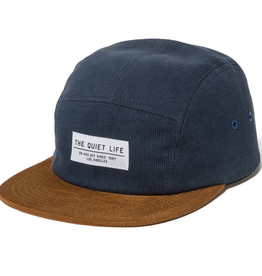 THE QUIET LIFE THE QUIET LIFE CORD COMBO 5 PANEL CAMPER HAT BLUE