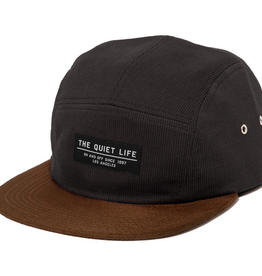 THE QUIET LIFE THE QUIET LIFE CORD COMBO 5 PANEL CAMPER HAT BLACK