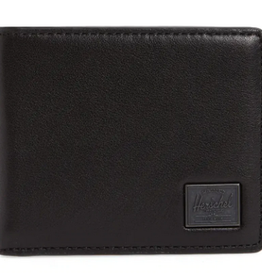 HERSCHEL HERSCHEL HANK LEATHER BLACK WALLET