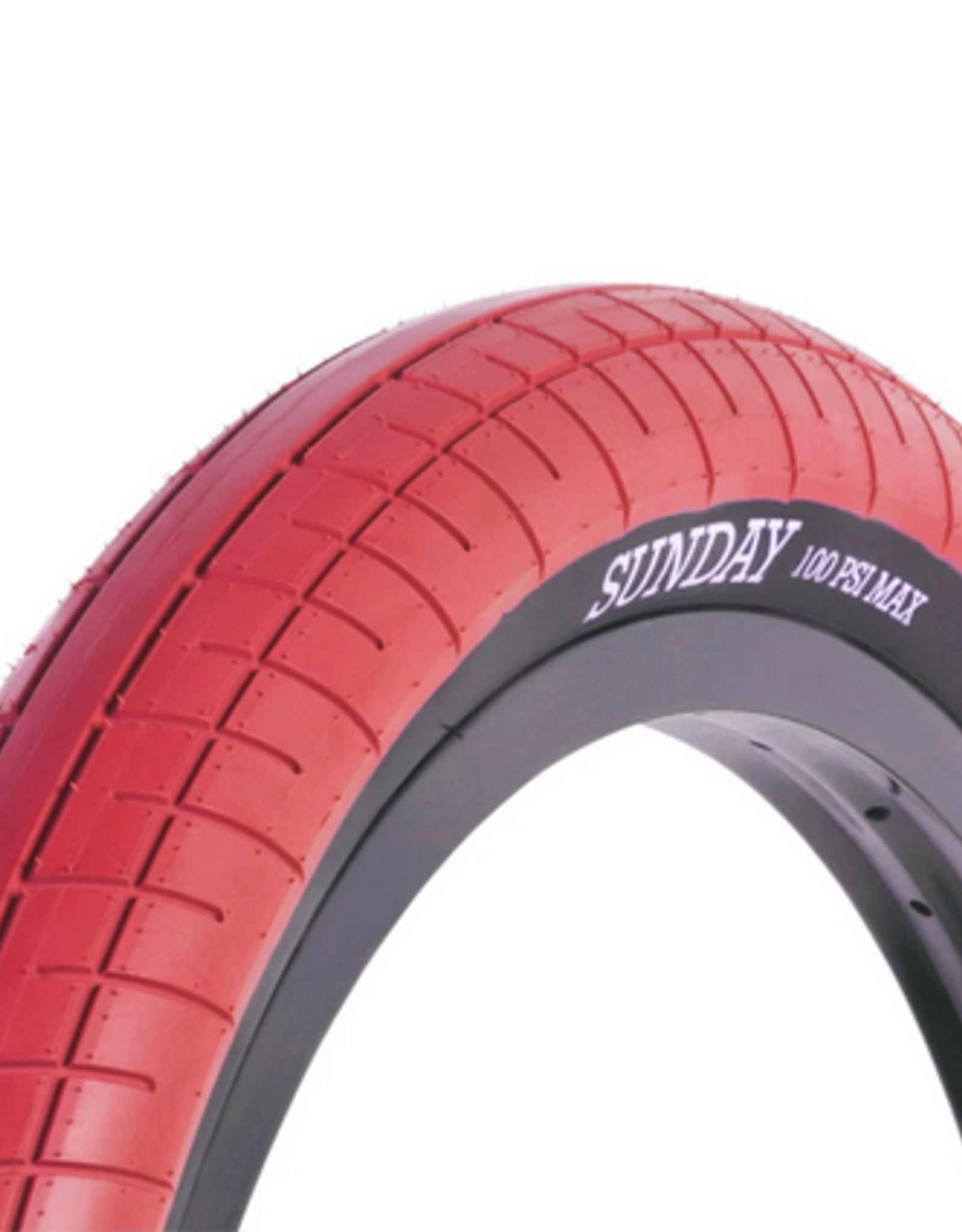 "SUNDAY SUNDAY SEELEY STREET SWEEPER TIRE 20"" 2.40"" WIDE BMX TIRE"