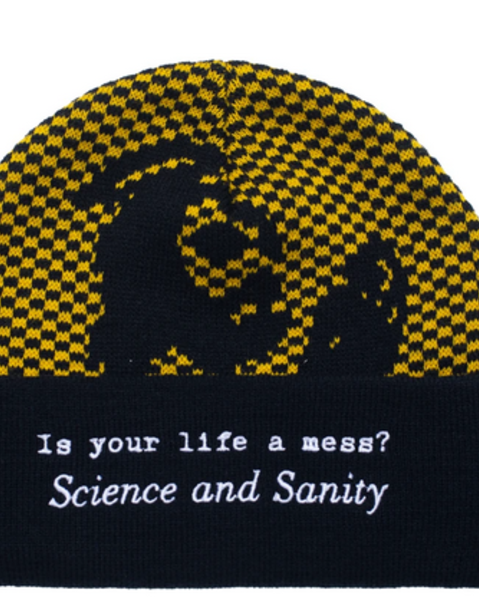 FUCKING AWESOME FUCKING AWESOME FA SCIENCE AND SANITY CUFF BEANIE BLACK ORANGE