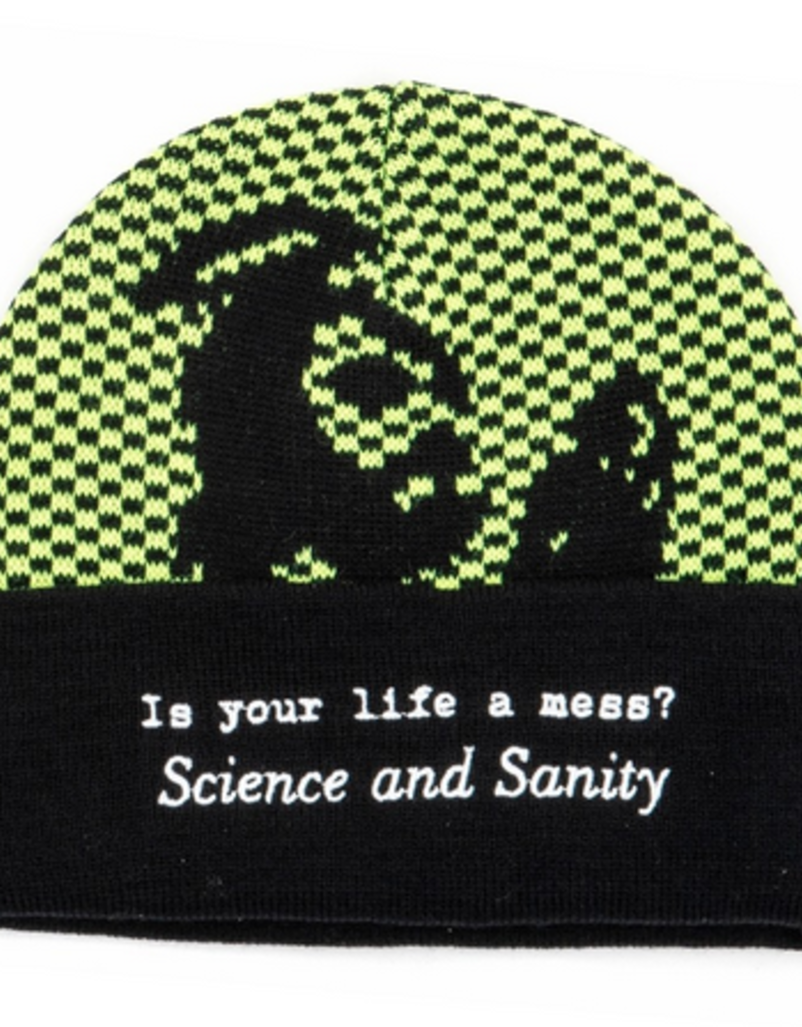 FUCKING AWESOME FUCKING AWESOME FA SCIENCE AND SANITY CUFF BEANIE BLACK GREEN