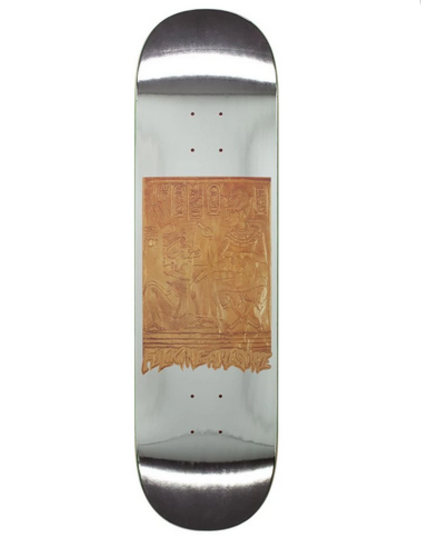 """FUCKING AWESOME FA 8.5"""" GOLD HIEROGLYPHICS DECK FUCKING AWESOME (PINK STAIN BG)"""