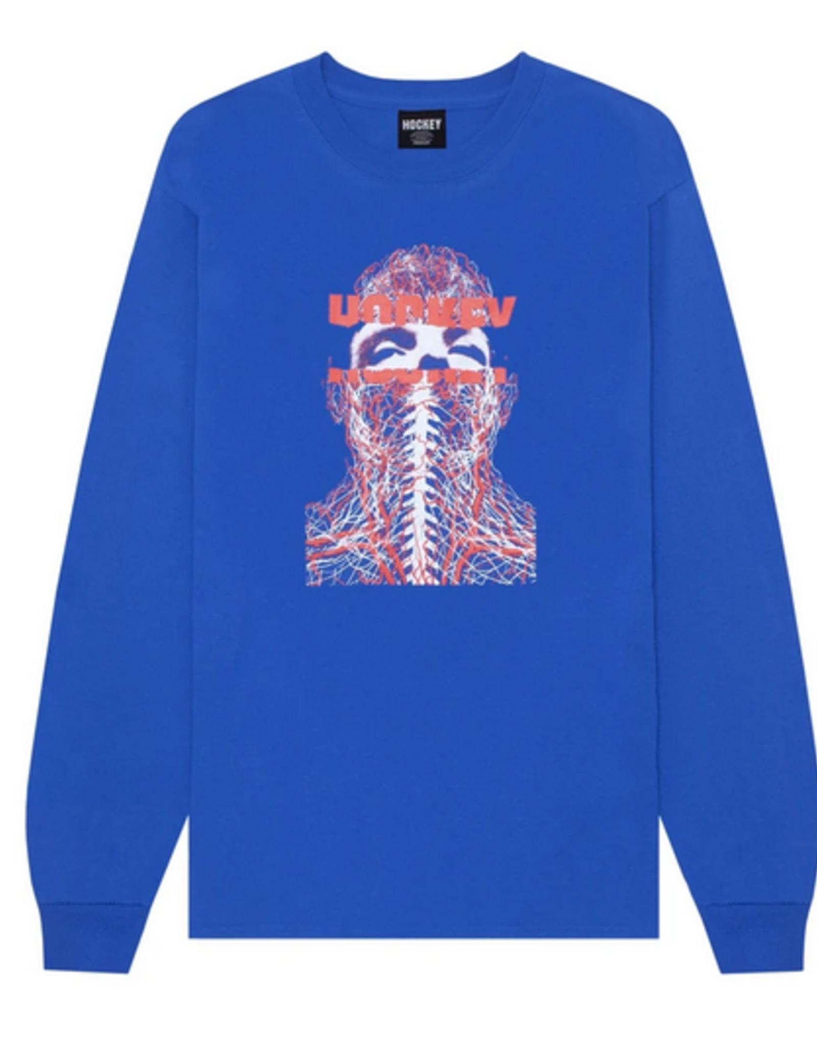 HOCKEY HOCKEY NERVES L/S TEE SHIRT ROYAL BLUE