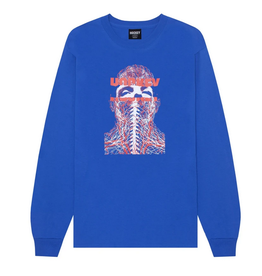 HOCKEY HOCKEY NERVES L/S TEE SHIRT ROYAL BLUE