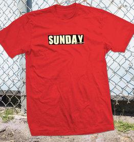 SUNDAY SUNDAY X BAKER SKATEBOARDS TEE SHIRT RED