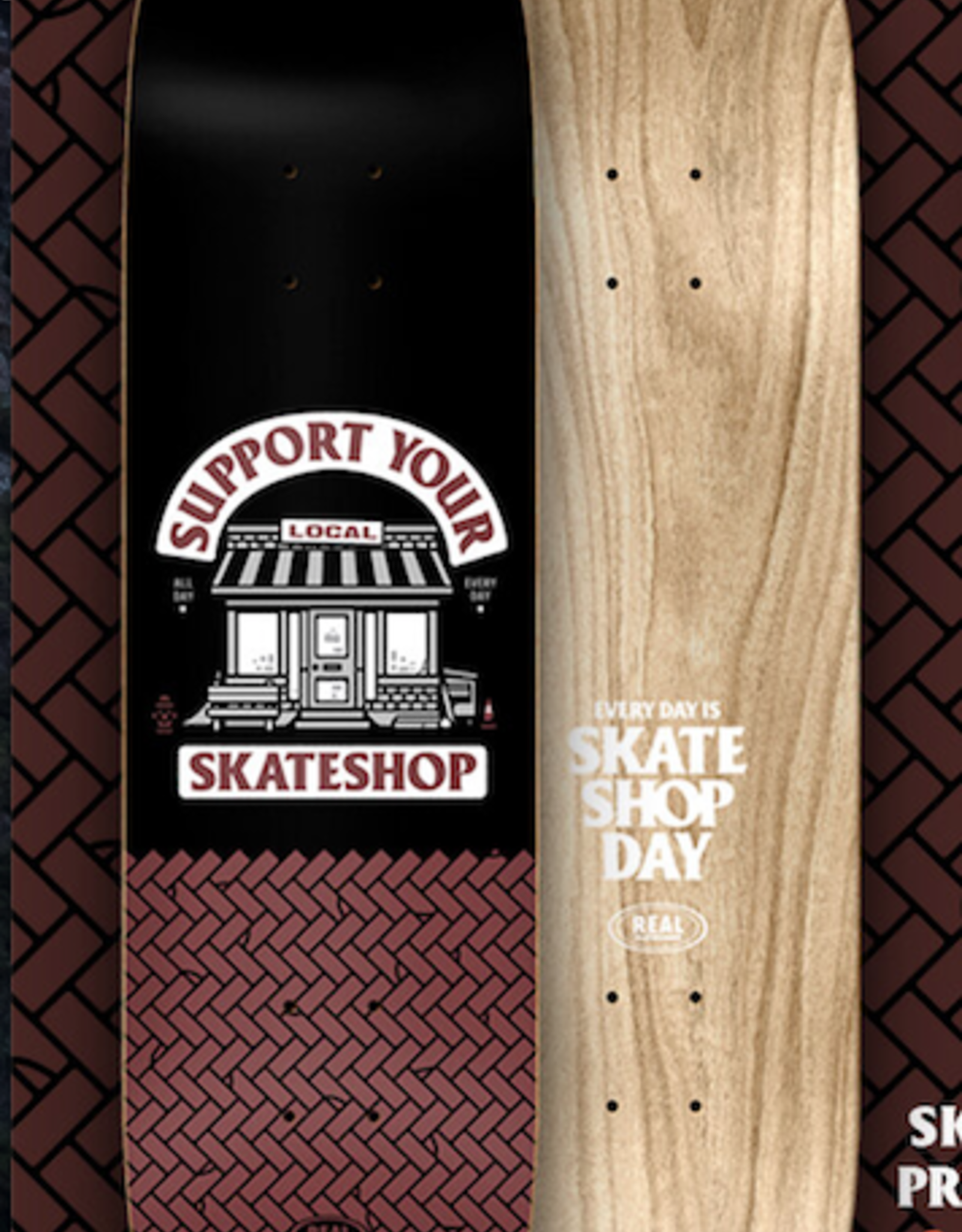 REAL REAL 8.06 SKATE SHOP DAY DECK W/JESSUP GRIPTAPE