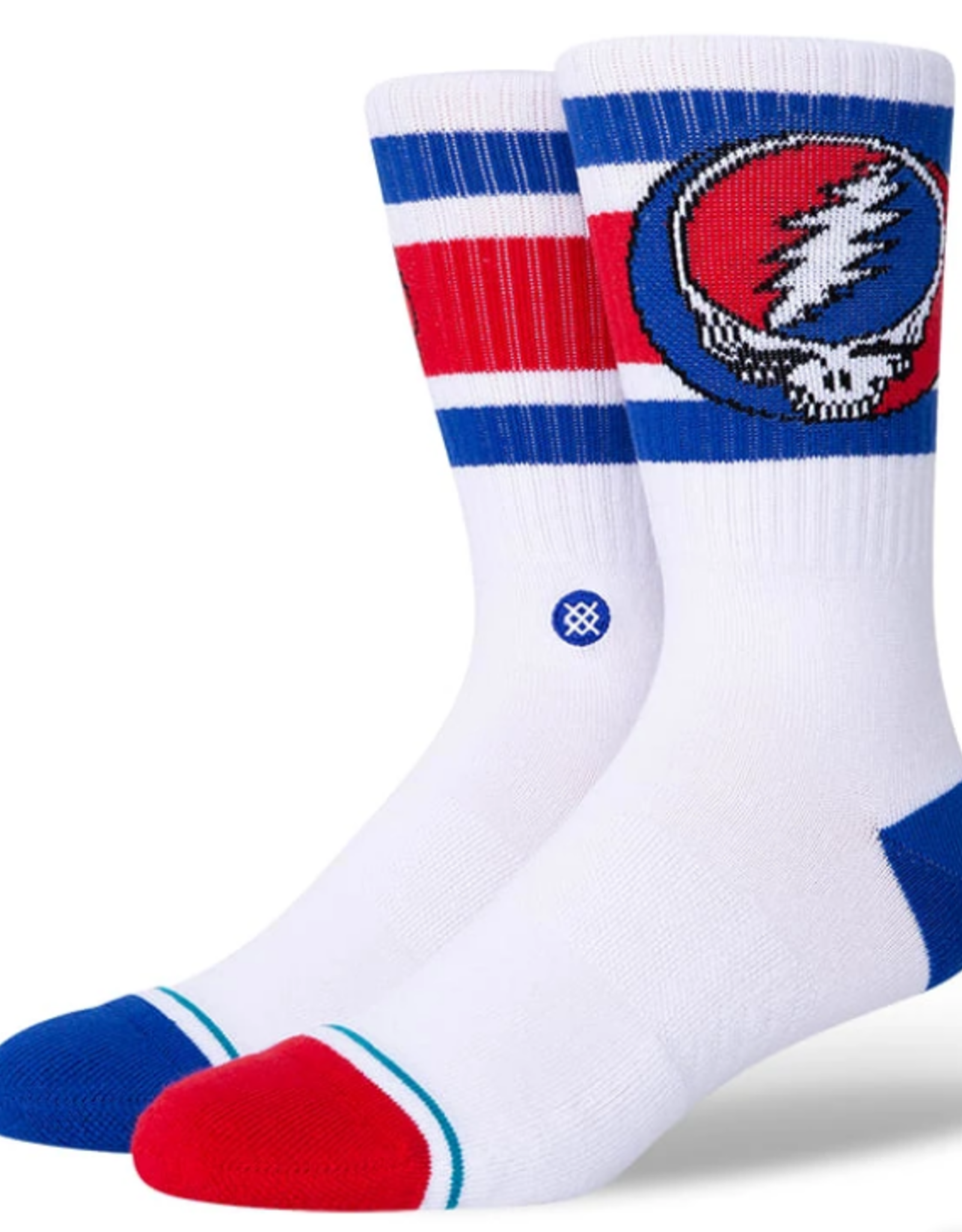 STANCE STANCE GRATEFUL DEAD STEAL YOURE BOYD SOCKS MENS LARGE WHITE