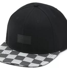 VANS VANS ALLOVER IT BLACK WHITE CHECKERBOARD SNAPBACK HAT