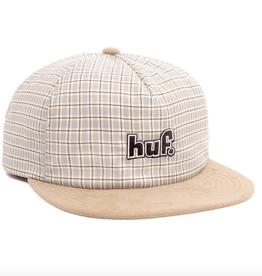 HUF HUF 93 PLAID SNAPBACK HAT TOFFEE