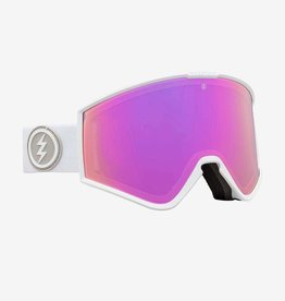 ELECTRIC ELECTRIC KLEVELAND GOGGLES MATTE WHITE BROSE PINK LENS