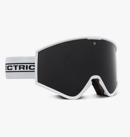 ELECTRIC ELECTRIC KLEVELAND GOGGLES WHITE TAPE JET BLACK LENS