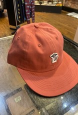 THE QUIET LIFE THE QUIET LIFE HAT SHHH FELT PATCH POLO STRAPBACK HAT ANTIQUE RED