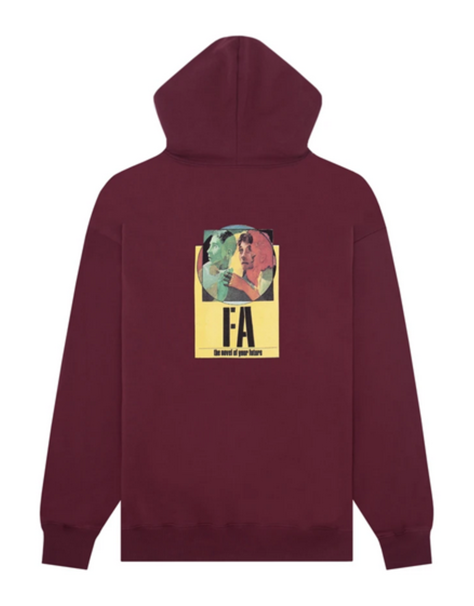FUCKING AWESOME FUCKING AWESOME NOVEL OF YOUR FUTURE HOODIE MAROON