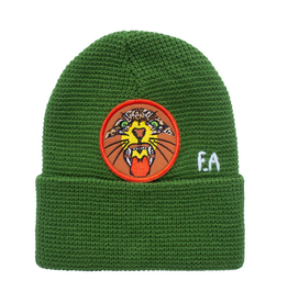 FUCKING AWESOME FA FUCKING AWESOME TIGER CUFF PATCH BEANIE GREEN