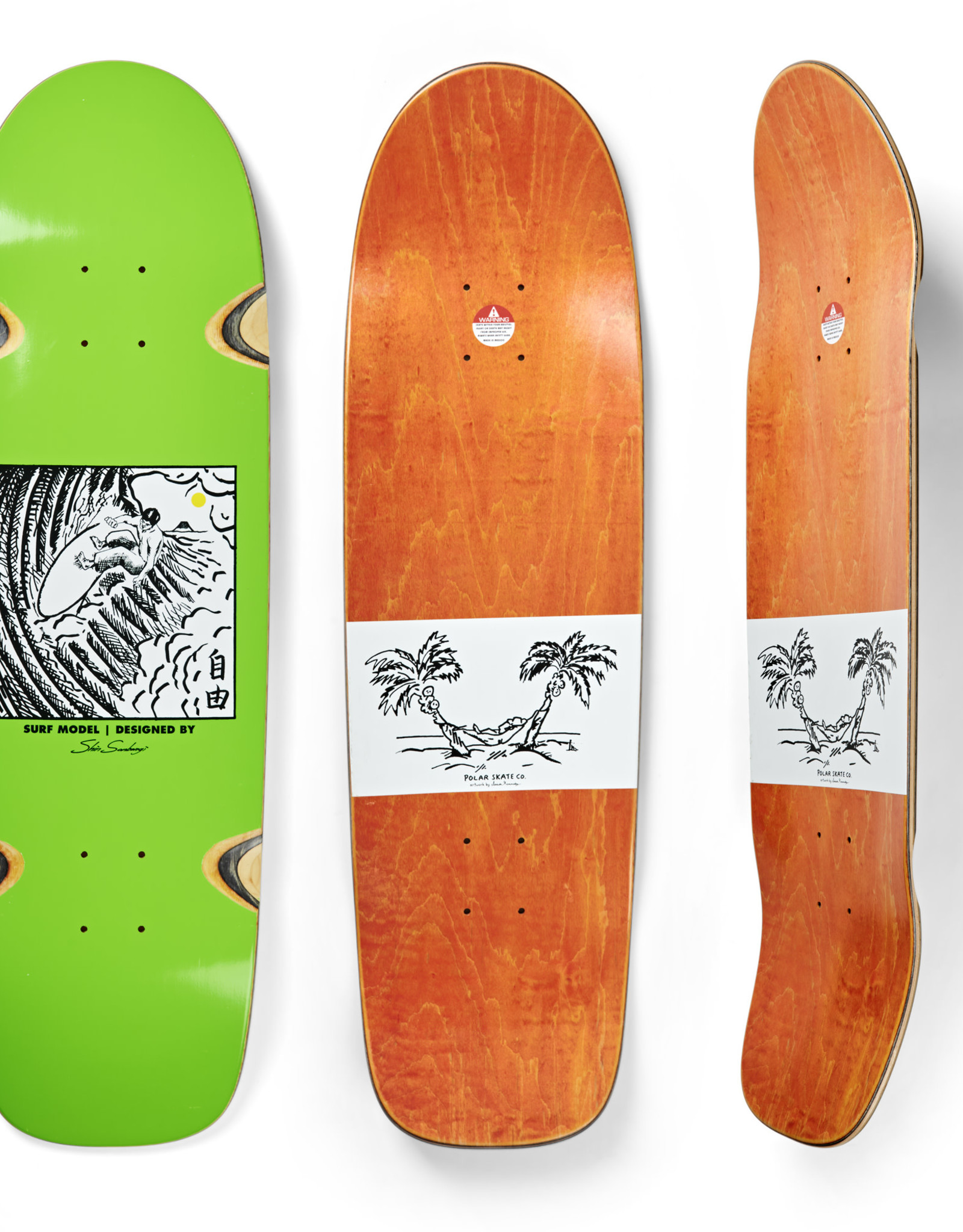 POLAR POLAR SHIN SANBONGI SURF JR LIME DECK