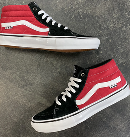 VANS VANS SKATE GROSSO MID BLACK RED