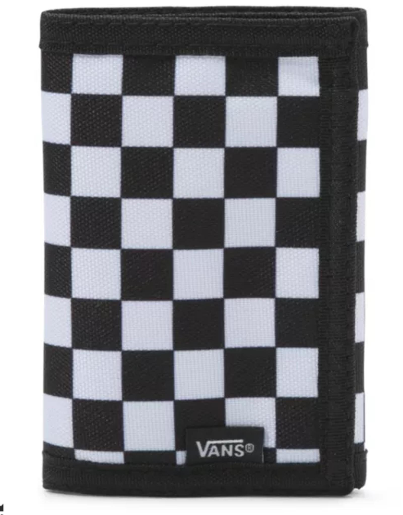VANS VANS SLIPPED WALLET BLACK WHITE CHECKERBOARD