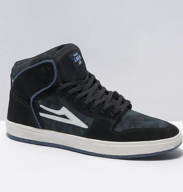 LAKAI LAKAI TELFORD BLACK BLUE CAMO SUEDE SHOES