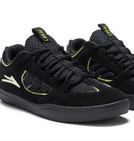 LAKAI LAKAI CARROLL BLACK NEON GREEN SHOES