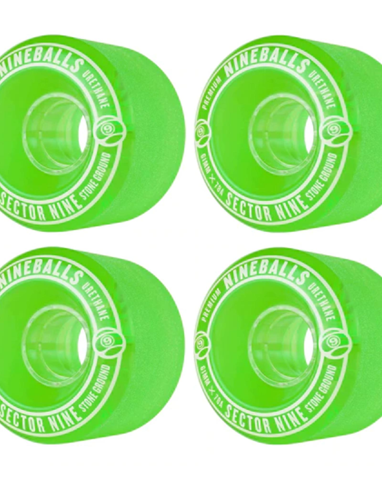 SECTOR 9 SECTOR 9 61MM 78A GREEN NINEBALL WHEELS
