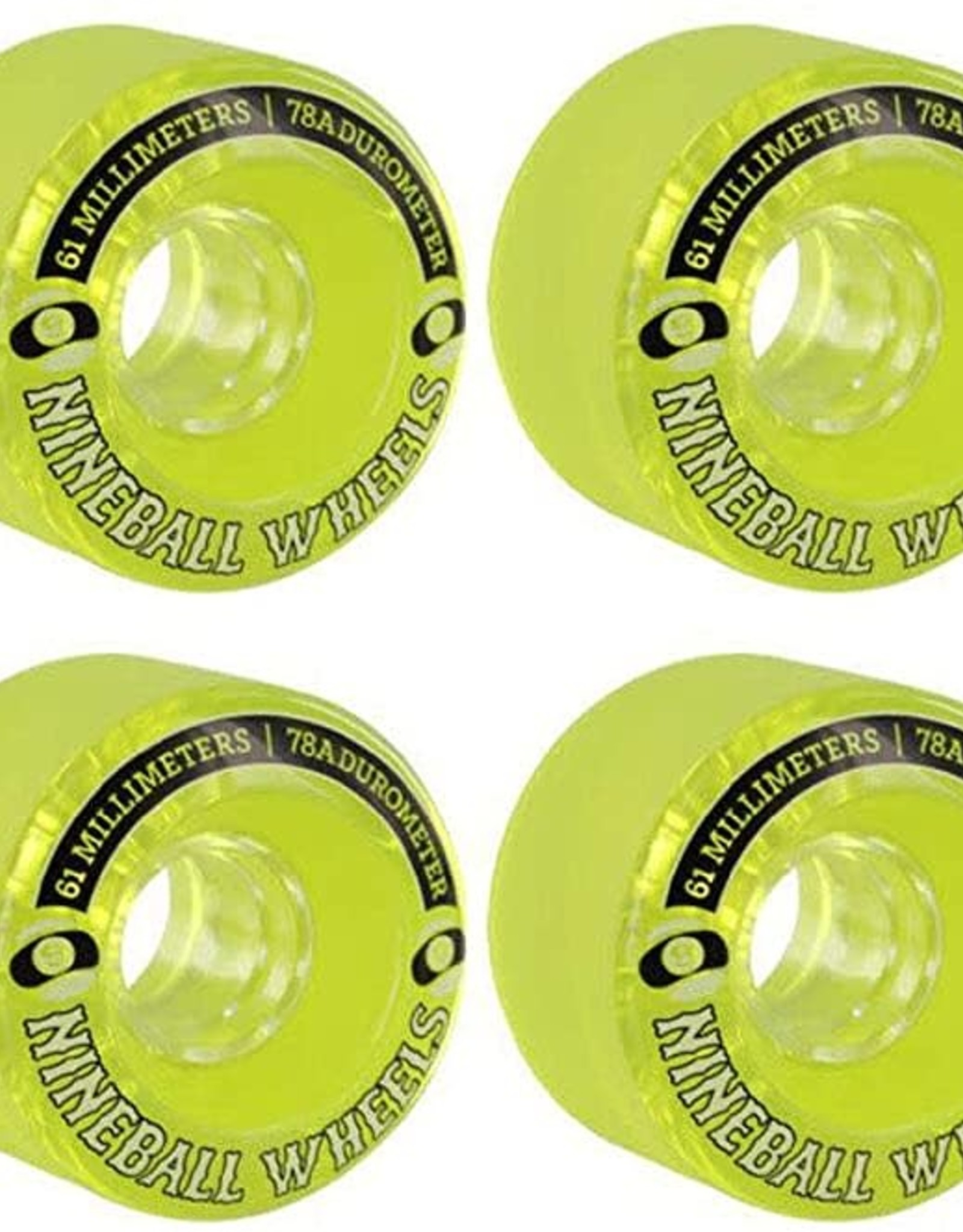 SECTOR 9 SECTOR 9 61MM 78A LIME GREEN NINEBALL WHEELS