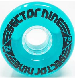 SECTOR 9 SECTOR 9 64MM 78A TEAL BLUE NINEBALL WHEELS
