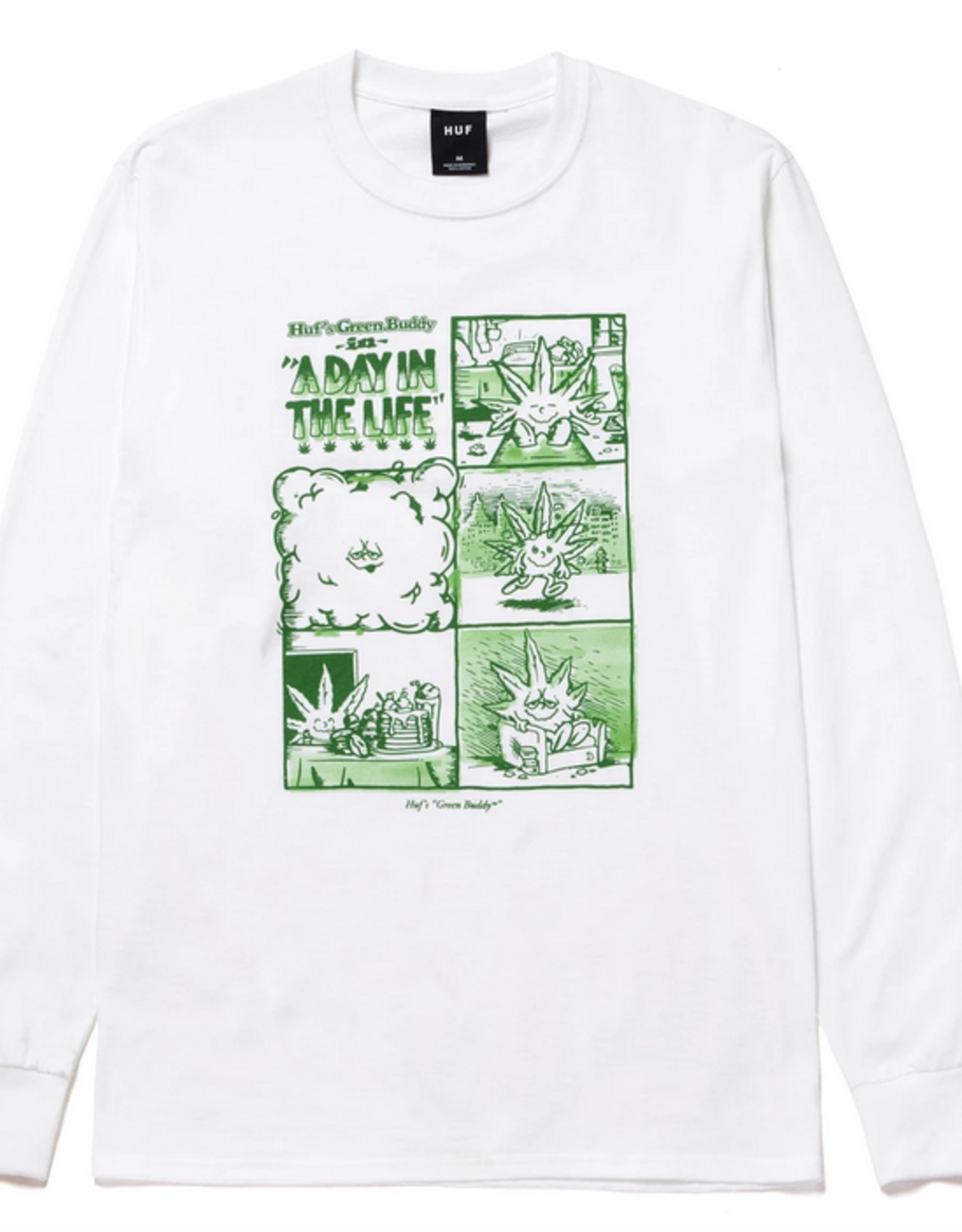 HUF HUF A DAY IN THE LIFE L/S TEE WHITE