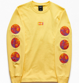 HUF HUF CLIMATE MELTDOWN L/S TEE YELLOW