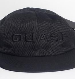 QUASI QUASI PERF BLACK SNAPBACK HAT