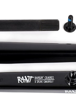RANT RANT BANGIN' 8 165MM BMX CRANKS GLOSS BLACK