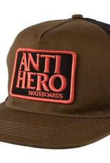ANTI-HERO ANTI-HERO RESERVE PATCH TRUCKER HAT OLIVE