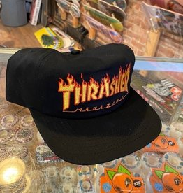 THRASHER THRASHER FLAME EMBROIDERED HAT BLACK