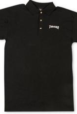 THRASHER THRASHER LOGO POLO SHIRT BLACK
