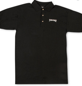 THRASHER THRASHER LOGO POLO SHIRT BLACK