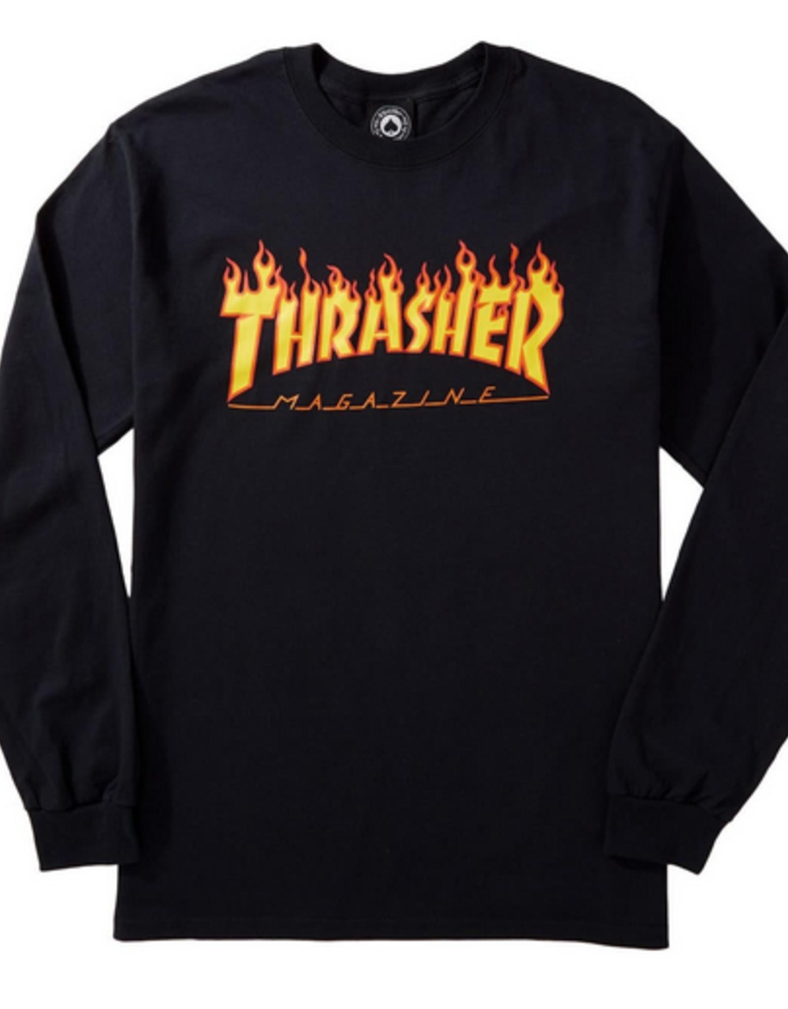 THRASHER THRASHER FLAME L/S BLACK
