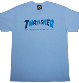 THRASHER THRASHER CHECKERS TEE SHIRT CAROLINA BLUE