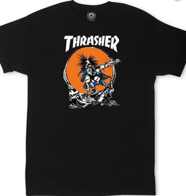 THRASHER THRASHER OUTLAW TEE BLACK PUSHEAD