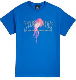 THRASHER THRASHER ATLANTIC DRIFT TEE SHIRT BLUE