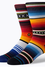 STANCE STANCE CURREN ST CREW STRIPED SOCK MENS LARGE RED