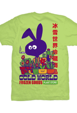 COLD WORLD COLD WORLD INDUSTRY PLANT TEE SHIRT COTTON LIME GREEN