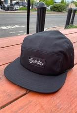 GARDEN GARDEN 5 PANEL CAMPER HAT BLACK CLIPBACK