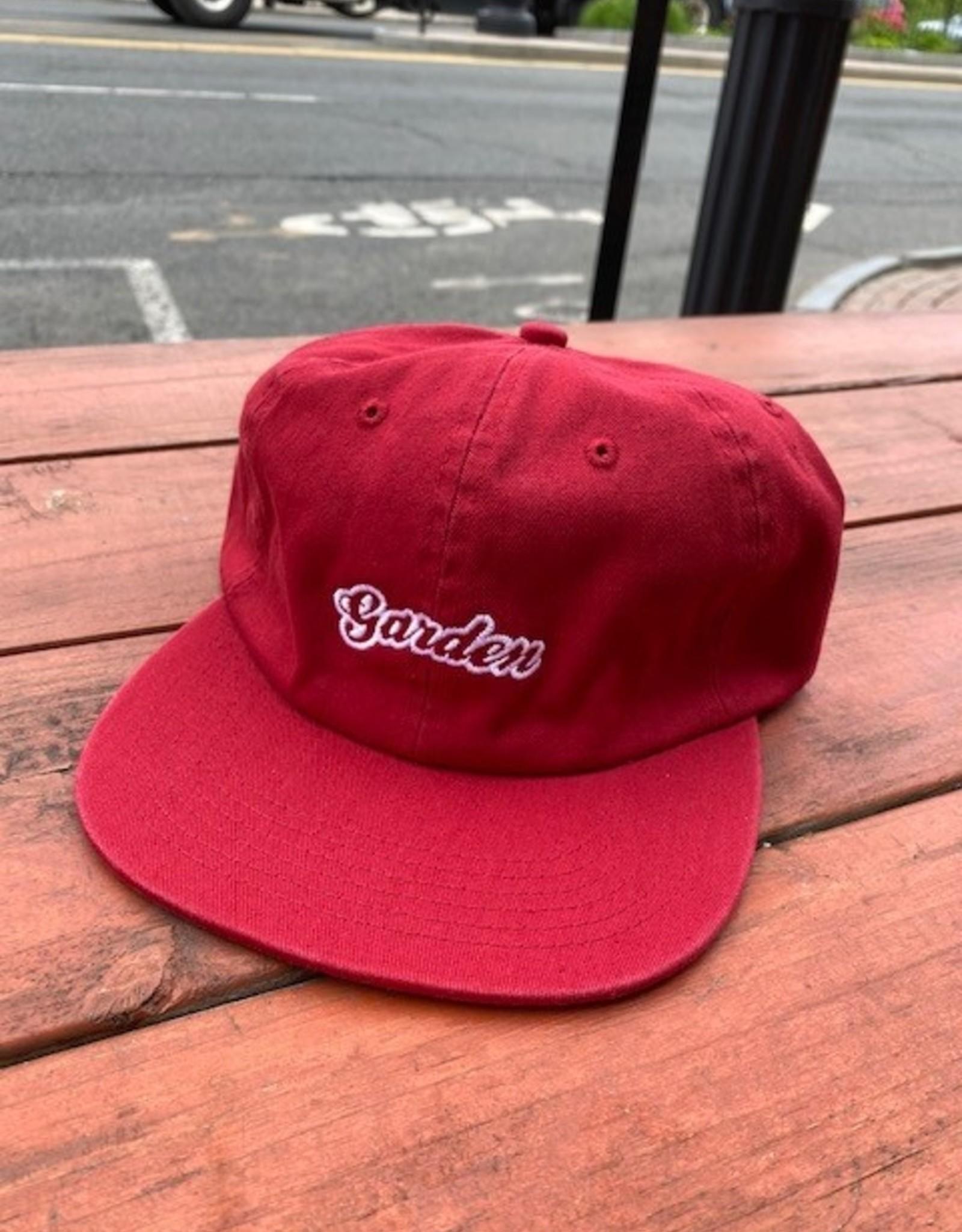 GARDEN GARDEN BUBBLE LOGO UNSTRUCTURED HAT CLIPBACK RED/WHITE