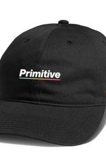 PRIMITIVE PRIMITIVE GAMMA STRAPBACK HAT BLACK