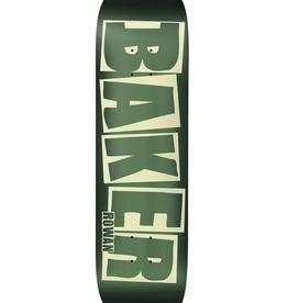 """BAKER BAKER 8.0"""" RZ BRAND LOGO GREEN FOIL DECK"""